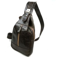 Hot 2016 New Design Fashion Genuine Leather Chest Bags High Quality Casual Men Messenger Bags Vintage Small Shoulder Bags bolso One Strap Backpack, Backpack Purse, Sling Backpack, Clutch Bag, Leather Crossbody Bag, Leather Backpack, Leather Bag Pattern, Well Dressed Men, Leather Men