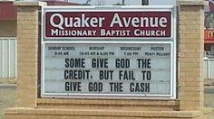 Church Signs of the Week: May 23, 2014