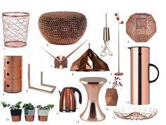 Idée déco cuivre, accessoires. wwwclemaroundthecorner.com