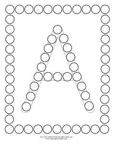 Alphabet Find and Dab Preschool Curriculum, Preschool Lessons, Preschool Worksheets, Preschool Crafts, Alphabet Worksheets, Alphabet Activities, Toddler Activities, Motor Skills Activities, Preschool Activities