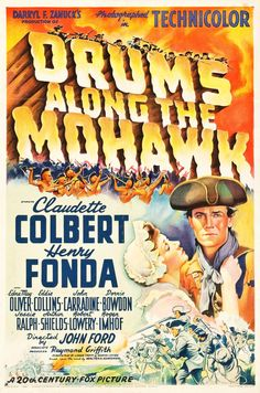 """Movie Posters:Adventure, Drums Along the Mohawk (20th Century Fox, 1939). One Sheet (27.25""""X 41"""") Style B.. ..."""
