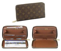 Louis Vuitton - Zippy Organizer ($875) - avail in monogram, damier, blk damier, white damier, utah leather ($1090)