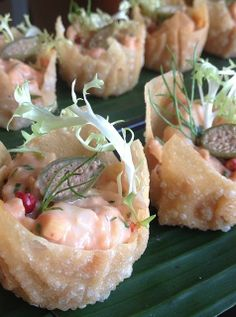 Crispy, creamy and oh-so flavourful... It doesn't get much better than @Four Seasons Hotel Beirut's Shrimp Cocktail in a Crispy Wonton.