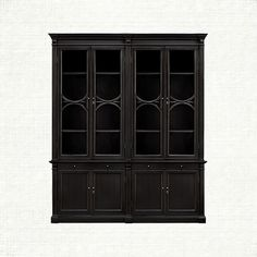 Athens Double Display Cabinet In Tuxedo Black