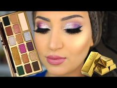 Too Faced Gold Chocolate Palette Tutorial – Make Up for Beginners & Make Up Tutorial Gold Eyeliner, Apply Eyeliner, Chocolate Bar Palette, Chocolate Gold, Chocolate Bars, Eye Makeup Art, Blue Eye Makeup, Buy Makeup, Glitter Makeup