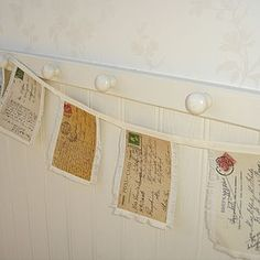 Postcard Bunting - good for summer celebration