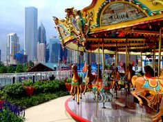 Navy Pier in Chicago is a fascinating place. Sadly, the carousel was not running when I was there. Visit Chicago, Chicago Travel, Chicago City, Chicago Illinois, Chicago Area, Navy Pier Chicago, Chicago Apartment, Holiday Places, My Kind Of Town