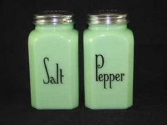 I like these old salt and pepper shakers. I think the color is great.