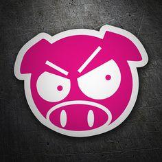 Pegatinas: Pig Angry JDM #coche #pegatina #sticker