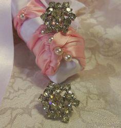 vintage,rhinestone earrings, snowflake shaped, holiday jewelry