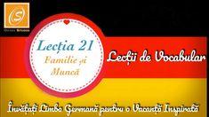 Lecția 21 - Familie și Muncă - Lecții de Vocabular in Limba Germană - YouTube Chart, Youtube, Youtubers, Youtube Movies