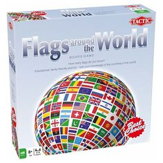 Flags Around the World Educational Board Game : Target