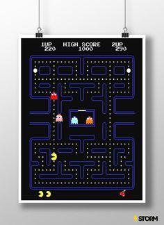 Confira aqui - Poster Pac-Man - Storm Shop