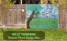 Cinder Block Garden Bed and a Painted Fence! Raised Bed Garden Design, Garden Design Plans, Fence Design, Fence Art, Diy Fence, Rock Design, Modern Design, Hand Painted Rocks, Backyard Fences