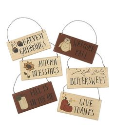 Take a look at this Autumn Days Ornament Set by Collins on #zulily today!  Could make these easily