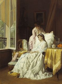 Charles Louis Baugniet (Belgian,1814 -1886) -The convalescent