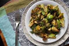 crispy fried brussels sprouts.