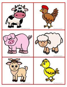 Farm Memory Game Free Printable Free Printable for Kids - Nutztiere Farm Animals Games, Farm Animals Preschool, Farm Animal Crafts, Animal Games, Farm Animals For Kids, Farm Games, Animal Activities, Preschool Learning Activities, Preschool Activities