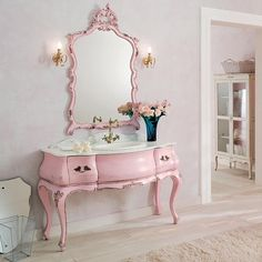 French boudoir in vintage pink