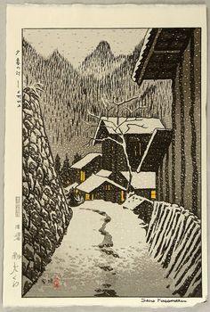Kasamatsu Shiro: Dusk at Minakami - 1958
