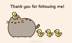 Thank you everybodeeee!D from me and pusheen Chat Pusheen, Pusheen Love, Pusheen Stuff, I Love You All, My Love, Beau Gif, 100 Followers, Nyan Cat, A Silent Voice