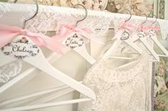 The Polka Dot Closet: Wedding Hangers For The Bride and Bridesmaids