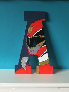 Power Rangers Megaforce Hand Painted by TheTinyPaintBox on Etsy