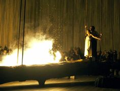 "Annemarie Kreme and Luis Chapa in ""Norma"" at the Opera North in Leeds, England. (Credit Alastair Muir)  NYTimes.com"
