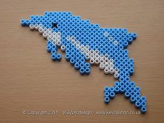 Dolphin Hama bead Design see more of my bead designs at my site http://www.kevinsimon.co.uk/?p=4658