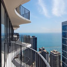 Aqua balcony,  Southeast View at Aqua Chicago Condo