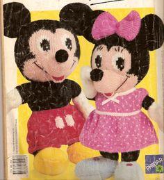 Mickey en Minnie Mouse | Knuffels-breien-en-haken.jouwweb.nl