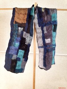 Boro scarf. Felted silk Textiles, Boro, Silk, Textile Design, Felting, Fabrics, Silk Sarees, Textile Art