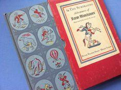 Vintage Tiny Book BARON MUNCHAUSEN Peter Pauper Press Slipcase 1944.  via Etsy.
