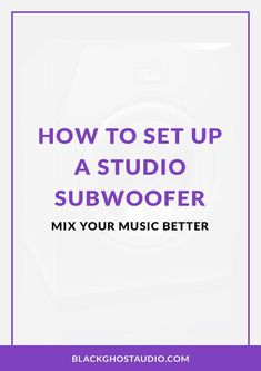 Learn where to place your subwoofer and how to set your subwoofer to the correct level and crossover frequency. Noise Meter, Recording Studio Setup, Room Acoustics, Design Studio Office, Spectrum Analyzer, Zen Design, Home Studio Music, Studio Room