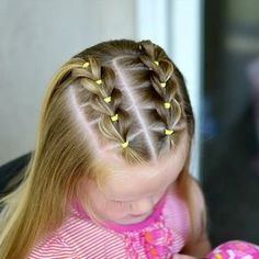 The Effective Pictures We Offer You About toddler hairstyles girl party A quality picture can tell y Easy Toddler Hairstyles, Easy Little Girl Hairstyles, Girls Hairdos, Cute Hairstyles For Kids, Cute Girls Hairstyles, Girl Haircuts, Halloween Hairstyles, Toddler Hair Dos, Hair For Little Girls