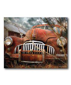 Look at this #zulilyfind! Classic Vintage Car Canvas #zulilyfinds