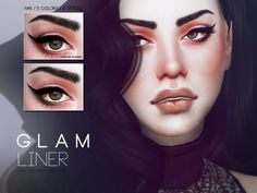 The Sims Resource: Glam Liner N45 by Praliensims • Sims 4 Downloads