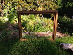 Picture Frame Set Up in Front of the Garden (from Gazebo Park School at Esalen Institute via Art & Creativity)