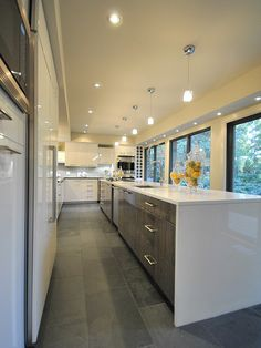 two tone kitchen