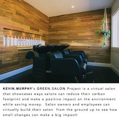 The KEVIN.MURPHY GREEN.SALON Project is a virtual salon that demonstrates initiatives that salons and individuals can undertake to reduce their carbon footprint and the impact on the environment whilst saving money.
