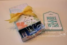 Envelope Punch Board Matchbox Gift Card Holder - video tutorial