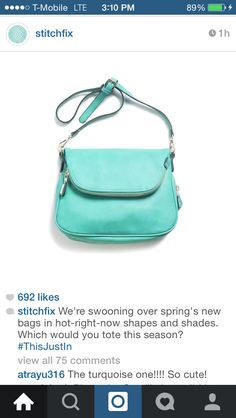 #stitchfix @stitchfix stitch fix https://www.stitchfix.com/referral/3590654 Moda Luxe light green Brooks crossbody bag – $58.00 Like the color AND it's a crossbody!!!!