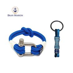 Bran Marion White and Blue Nautical Bracelet and Keychain sold by Bran Marion. Shop more products from Bran Marion on Storenvy, the home of independent small businesses all over the world. Nautical Bracelet, Nautical Jewelry, Marine Rope, Nautical Fashion, Everyday Look, Handmade Bracelets, Jewelry Collection, Blue And White, Sailors