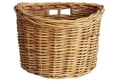 French Wickerwork Bicycle Basket I have this holding my hair dryer...149