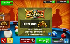 Get 8 Ball Pool 10 Million Coins Free     Welcome 8 Ball Pool Players. You can get 10 Million coins FREE!.     Follow 3  Simple Steps  Belo...