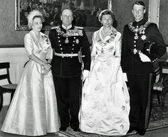 Olav V of Norway with his three children, Crown Prince Haakon, Princess Astrid and Princess Raganild