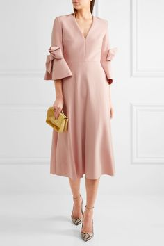 Roksanda | Sibella bow-detailed stretch-crepe midi dress | NET-A-PORTER.COM