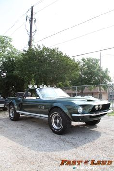 1968 Ford Shelby Mustang Convertible modeled after the car from The Thomas Crown Affair by Gas Monkeys Garage