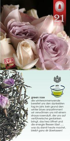 #tag21: zart beduftet durch die tage - mit der kraft der rose + grünem tee = GREEN ROSE: die rosenknospen sind wunderschön anzusehen und können müdigkeitserscheinungen beseitigen. in kombination mit grüner tee die perfekte mischung, um selbst anstrengende (kater)tage erfolgreich zu meistern! #teayourmind #shuyao #gruenertee #rose #teekultur #tee #greenrose