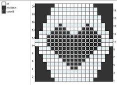 Heart chart for hexipuffs